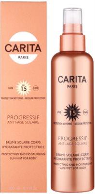 Carita Progressif Anti-Age Solaire хидратираща и предпазваща защитна мъгла SPF 15 2