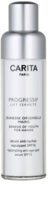 Carita Progressif Lift Fermeté омолоджуючий крем для рук проти пігментних плям SPF 15