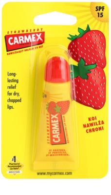 Carmex Strawberry bálsamo para lábios em tubo SPF 15