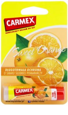 Carmex Sweet Orange vlažilni balzam za ustnice v paličici