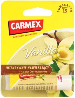 Carmex Vanilla vlažilni balzam za ustnice v paličici SPF 15