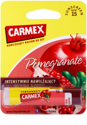 Carmex Pomegranate bálsamo hidratante para lábios em stick SPF 15