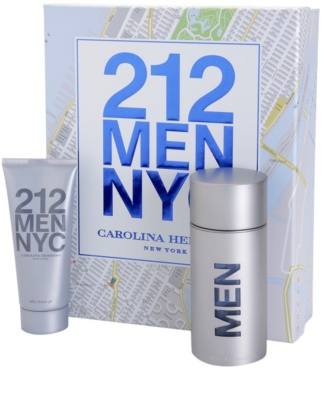 Carolina Herrera 212 NYC Men lote de regalo