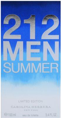 Carolina Herrera 212 Men Summer eau de toilette férfiaknak 4
