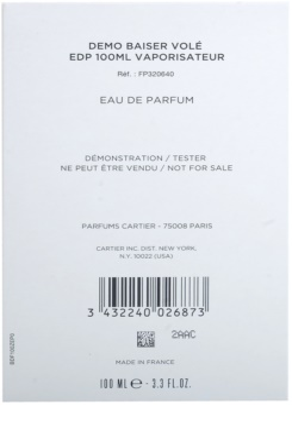 Cartier Baiser Volé eau de parfum teszter nőknek 3