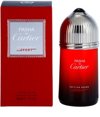 Cartier Pasha de Cartier Edition Noire Sport eau de toilette férfiaknak
