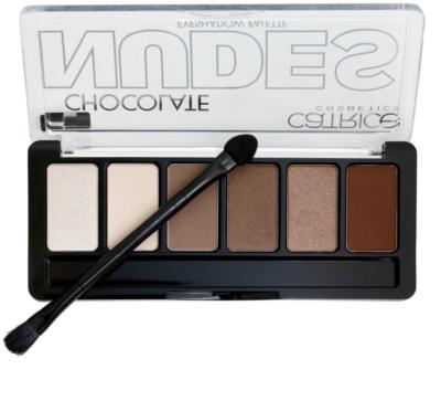 Catrice Chocolate Nudes paleta očních stínů s aplikátorem 1