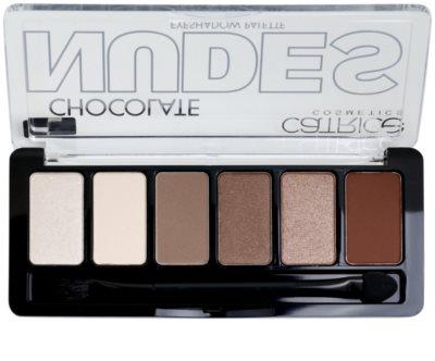 Catrice Chocolate Nudes paleta očních stínů s aplikátorem 2