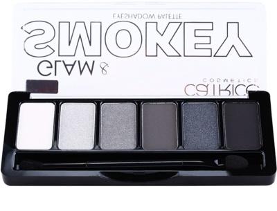 Catrice Glam & Smokey paleta cieni do powiek do makijażu smoky eyes