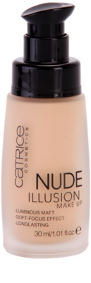 Catrice Nude Illusion dolgoobstojen tekoči puder 1
