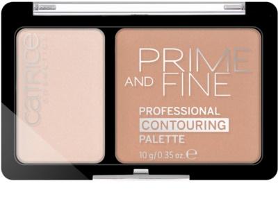 Catrice Prime And Fine paleta para contorno de rosto