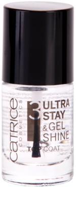 Catrice Ultra Stay & Gel Shine fedő lakk a körmökre a tökéletes védelemért és intenzív fényért