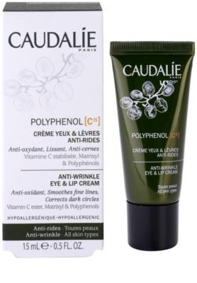 Caudalie Polyphenol C15 creme para contorno de olhos e lábios antirrugas e anti-olheiras 1