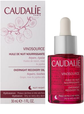 Caudalie Vinosource sérum regenerador de noite para pele seca a muito seca 1