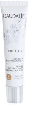 Caudalie Vinoperfect озаряващ тониращ флуид с хидратиращ ефект