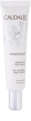 Caudalie Vinoperfect crema de noche iluminadora contra problemas de pigmentación