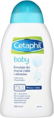 Cetaphil Baby emulsión limpiadora para cabello y cuerpo para bebé lactante