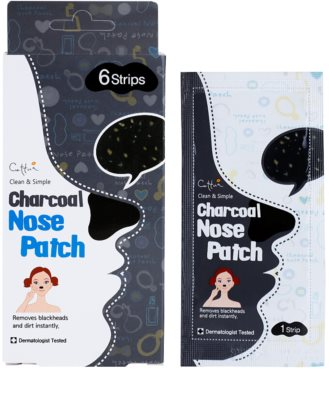Cettua Charcoal patch-uri de curatare a prilor de pe nas 2