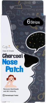 Cettua Charcoal čisticí náplast na zanešené póry na nose 3