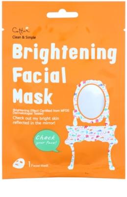 Cettua Clean & Simple maska iz platna s posvetlitvenim učinkom