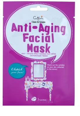Cettua Clean & Simple máscara em folha com efeito antirrugas