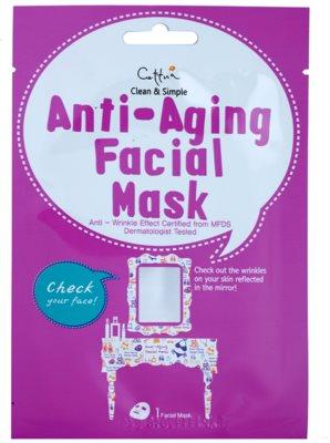 Cettua Clean & Simple платнена маска с анти-бръчков ефект