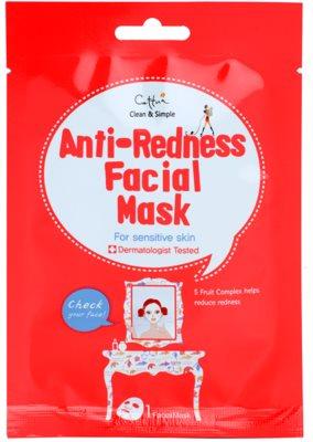 Cettua Clean & Simple maska iz platna za občutljivo kožo, nagnjeno k rdečici