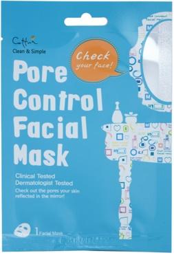 Cettua Clean & Simple máscara em folha para diminuição de poros e aspeto mate