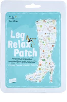 Cettua Clean & Simple mascarilla relajante para piernas cansadas