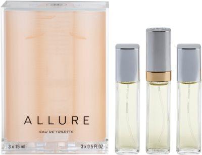 Chanel Allure тоалетна вода за жени  (1 бр. зареждащ се + 2 бр. пълнеж)