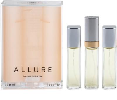 Chanel Allure eau de toilette nőknek  (1x utántölthető + 2x utántöltő)