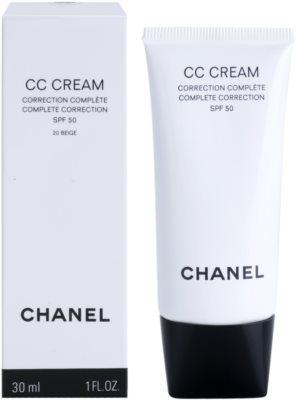 Chanel CC Cream crema para unificar el tono de la piel  SPF 50 1