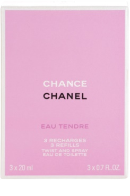 Chanel Chance Eau Tendre toaletní voda pro ženy  (3 x náplň) 3