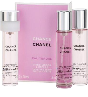 Chanel Chance Eau Tendre туалетна вода для жінок  (3 наповнення) 1