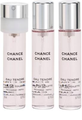 Chanel Chance Eau Tendre toaletní voda pro ženy  (3 x náplň) 2