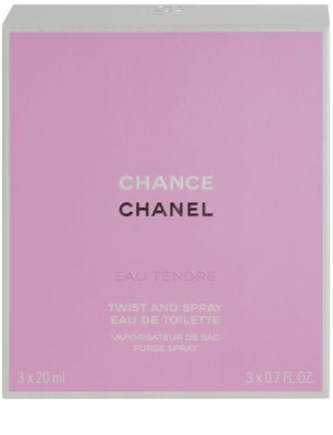 Chanel Chance Eau Tendre toaletní voda pro ženy  (1x plnitelná + 2x náplň) 3