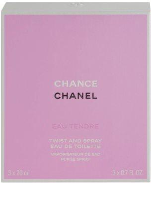 Chanel Chance Eau Tendre Eau de Toilette pentru femei  (1x reincarcabil + 2x rezerva) 3