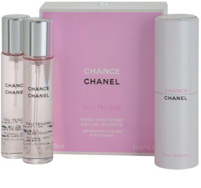 Chanel Chance Eau Tendre Eau de Toilette pentru femei  (1x reincarcabil + 2x rezerva) 1