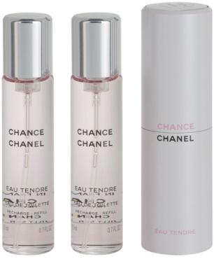 Chanel Chance Eau Tendre toaletní voda pro ženy  (1x plnitelná + 2x náplň) 2