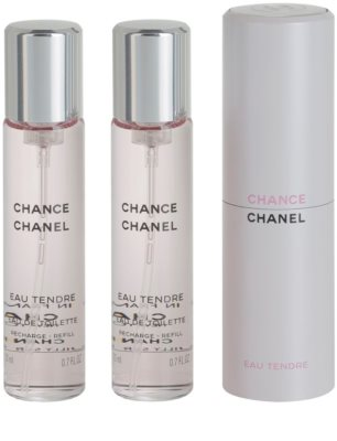Chanel Chance Eau Tendre Eau de Toilette pentru femei  (1x reincarcabil + 2x rezerva) 2