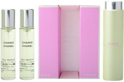 Chanel Chance Eau Fraiche toaletní voda pro ženy  (1x plnitelná + 2x náplň)