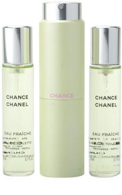 Chanel Chance Eau Fraiche Eau de Toilette para mulheres  (1x vap.recarregável + 2 x recarga) 1