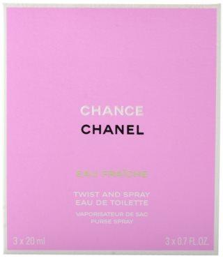 Chanel Chance Eau Fraiche toaletna voda za ženske  (1x  polnilna + 2x polnilo) 3