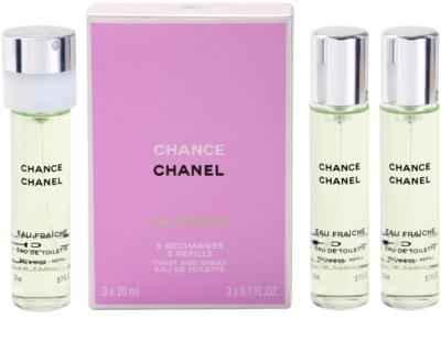 Chanel Chance Eau Fraiche eau de toilette nőknek  (3 x utántöltő)