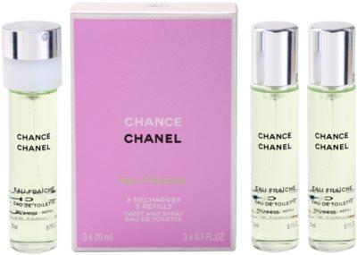 Chanel Chance Eau Fraiche Eau de Toilette para mulheres  (3 x recarga)