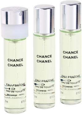 Chanel Chance Eau Fraiche Eau de Toilette para mulheres  (3 x recarga) 1