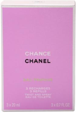 Chanel Chance Eau Fraiche Eau de Toilette para mulheres  (3 x recarga) 2