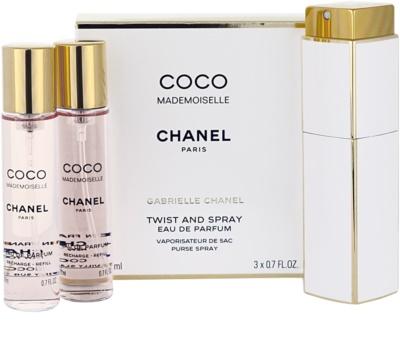 Chanel Coco Mademoiselle parfémovaná voda pro ženy  (1x plnitelná + 2x náplň)