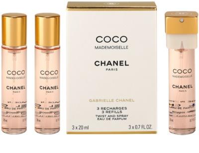 Chanel Coco Mademoiselle eau de parfum para mujer  (3x recambio)