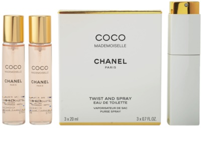Chanel Coco Mademoiselle toaletní voda pro ženy  (1x plnitelná + 2x náplň)